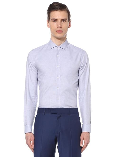 Gravitas Uzun Kollu Slim Fit Gömlek Saks